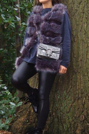 THEA Grey Faux Fur Gilet