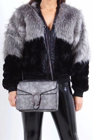 PIA Grey Faux Fur Jacket