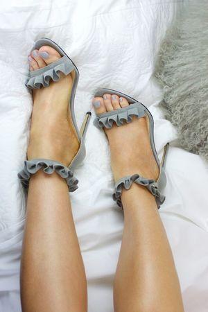 EDEN Grey Frill Heel