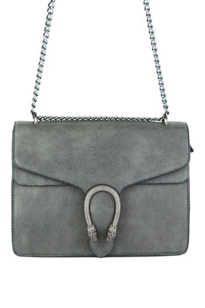AVERY Dark Grey Shoulder Bag