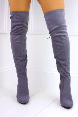 TAYLOR Grey Over Knee Boot