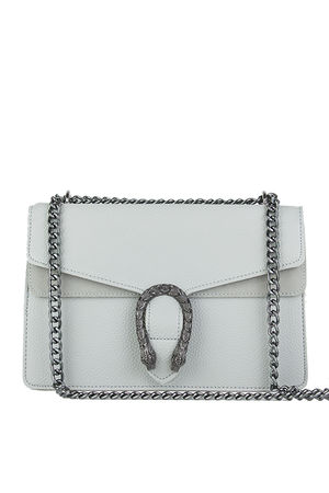 KAYLEIGH Grey Tiger Chain Shoulder Bag