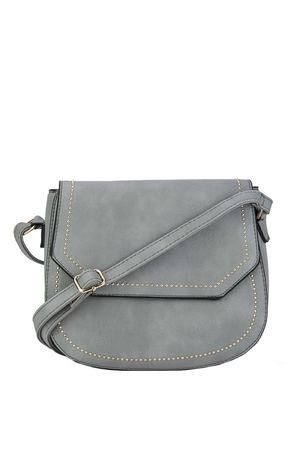 KARA Grey Cross body Bag with Gold Detail