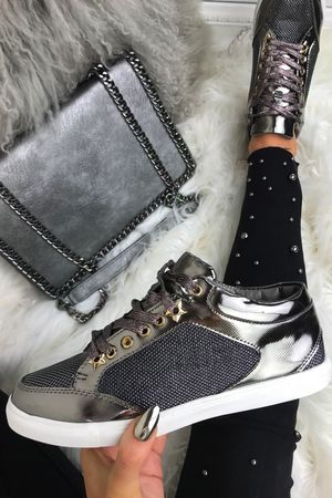MARLEY Grey Shimmer Trainers