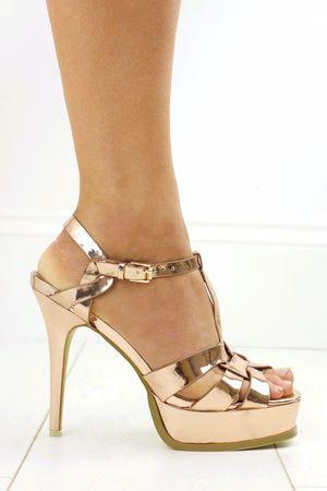 ELLA Rose Gold Platform Heel