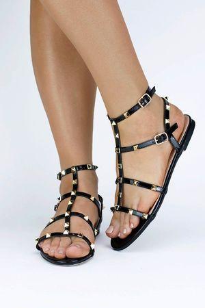 OLIVIA Black Stud Sandal