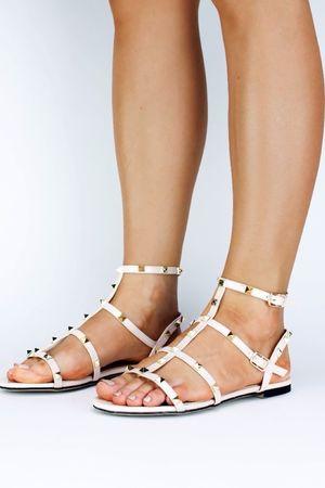 OLIVIA Nude Stud Sandal