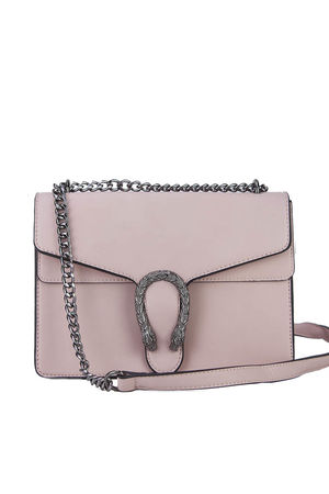 AVERY Light Pink Statement Shoulder Bag