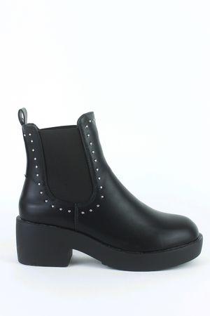 JOJO Black Stud Chelsea Boot