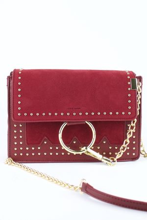 KATE Wine Stud Cross Body Bag