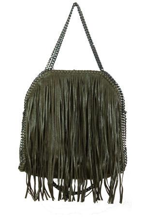 AVA Khaki Fringe Bag