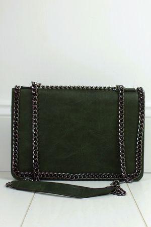 ROSIE Khaki Chain Shoulder Bag