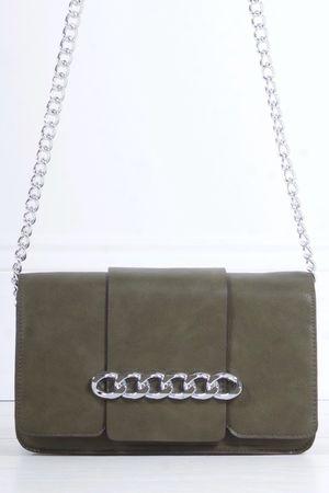 CORA Khaki Chain Shoulder Bag