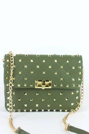 MIMI Khaki Stud Chain Bag