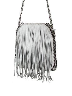 SIENNA Light Grey Fringe Bag