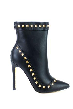ARIANA Black Stud Ankle Boot