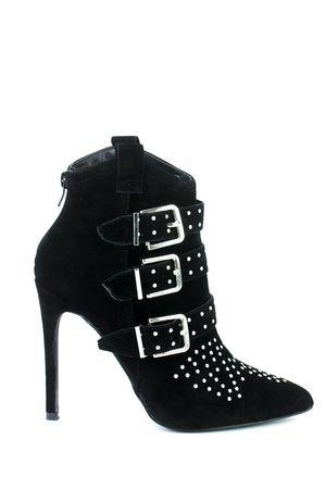BROOKLYN Black Buckle Ankle Boot