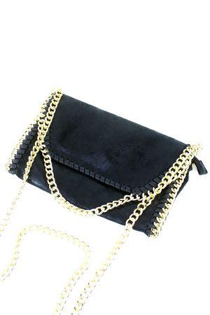 MEGHAN Black Chain Shoulder Bag