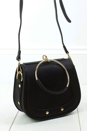 NILA Black Bracelet Shoulder Bag