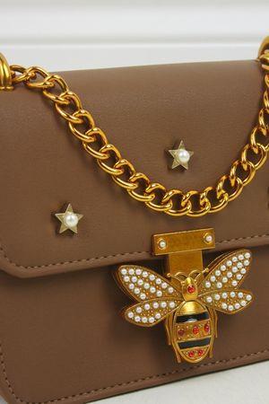 MINA Brown Mini Shoulder Bag