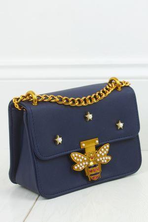 MINA Navy Mini Shoulder Bag
