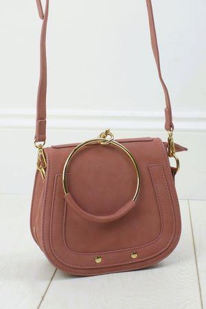 NILA Pink Bracelet Shoulder Bag