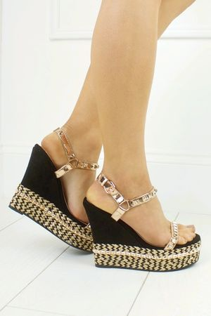 PELLA Rose Gold Stud Wedge
