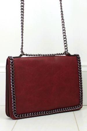 ROSIE Burgundy Chain Shoulder Bag