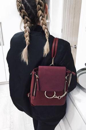 LEXI Burgundy Chain Backpack