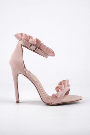 EDEN Pink Frill Heel
