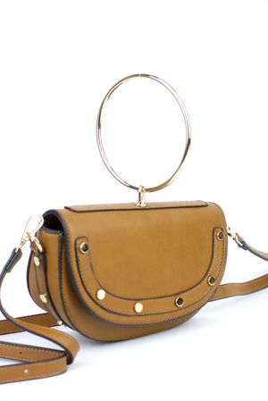 LOLITA Brown Half Moon Bag