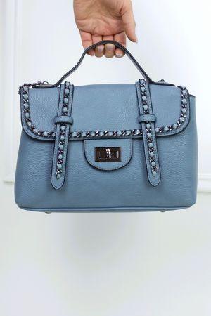LOTTIE Blue Satchel Chain Bag