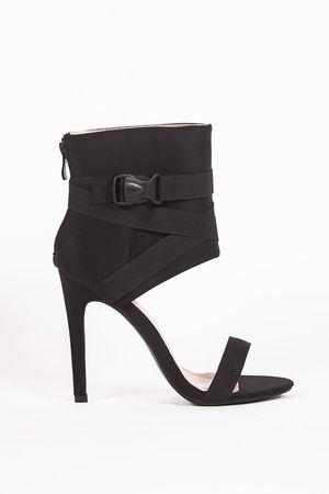 MAIA Black Ankle Cuff Clasp Stilettos
