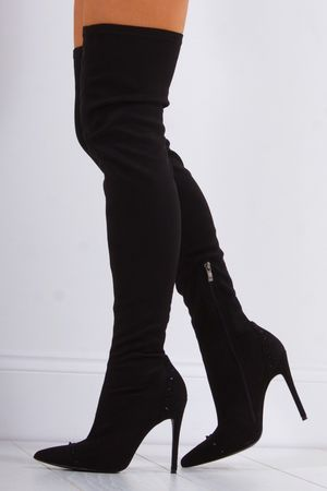MARGO Black Thigh High Boot