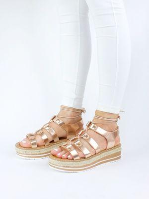 MELISSA Rose Gold Espadrille Sandal