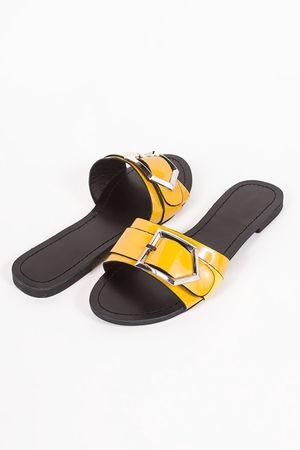 MIA Yellow Buckle Strap Sliders