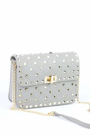 MIMI Grey Stud Chain Bag