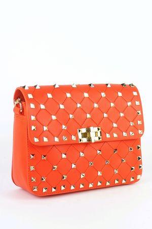 MIMI Orange Stud Chain Bag