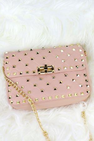 MIMI Pink Stud Chain Bag