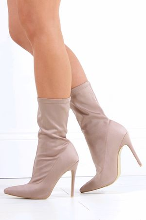 IMOGEN Mocha Stiletto Sock Boot