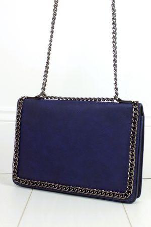 ROSIE Blue Chain Shoulder Bag