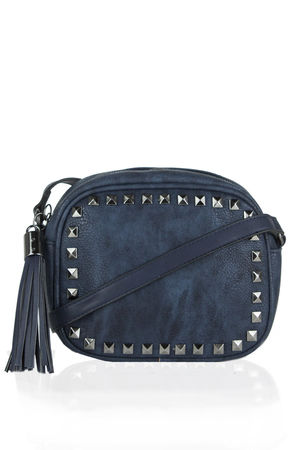 KYLA Navy Studded Crossbody Bag