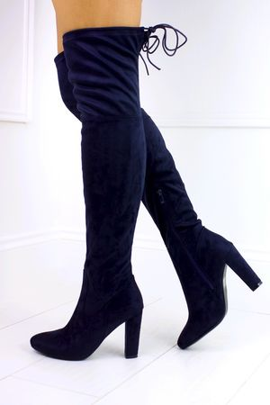 TAYLOR Navy Over Knee Boot