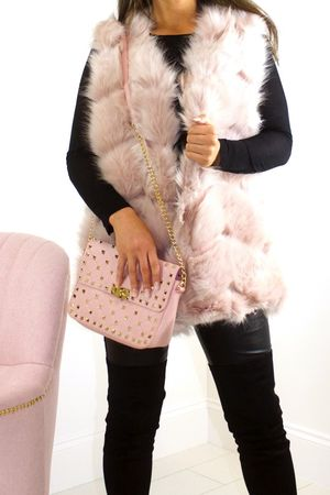 ADELE Pink Tiered Gilet