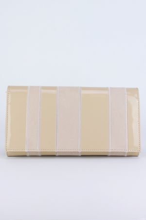 ELLIE Nude Clutch Bag