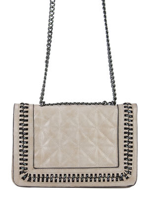 CLAUDINE Pink Quilted Chain Bag