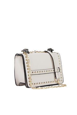 LILA Nude Snake Chain Shoulder Bag