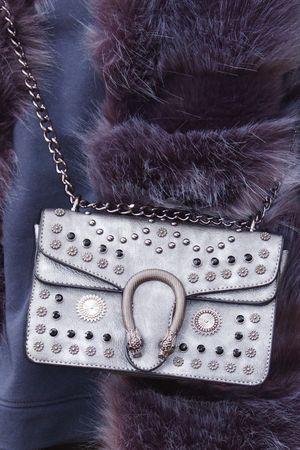 OLIVE Grey Hardware Shoulder Bag