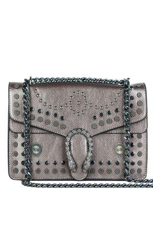 Oyster Stud Chain Shoulder Bag