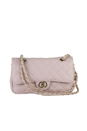 LILLY Pink Quilted Chain Bag